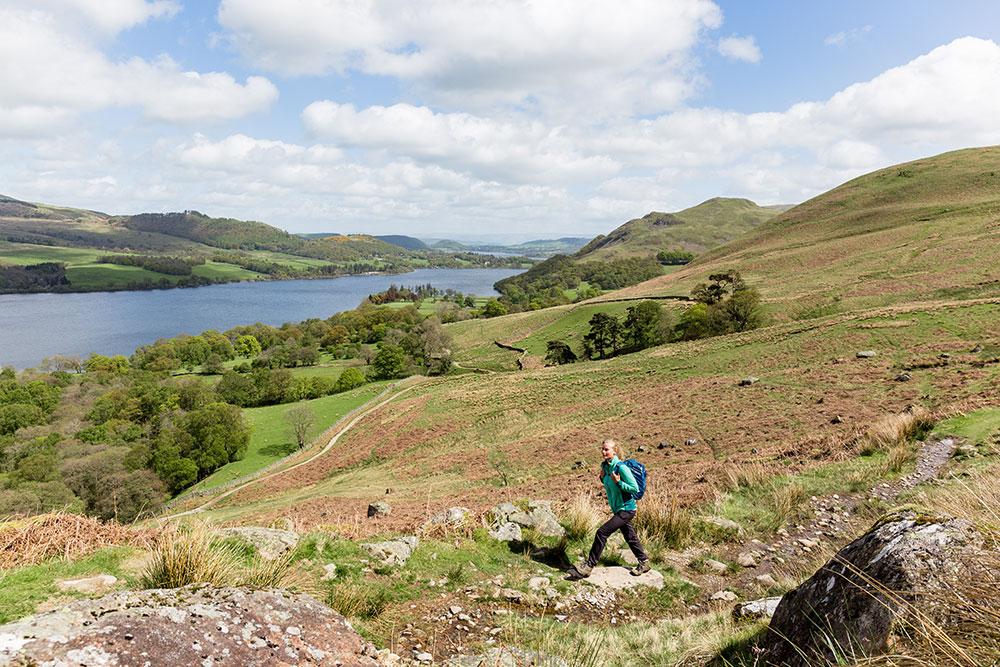 Hiking above Ullswater