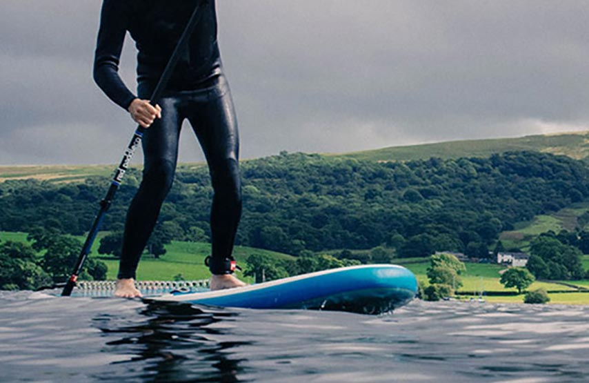 Stand-up paddleboarding on Ullswater