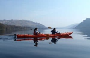 Learn to kayak and canoe on Ullswater in the Lake District