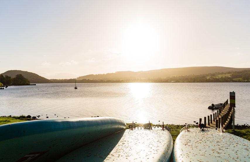 Ullswater lake sunset