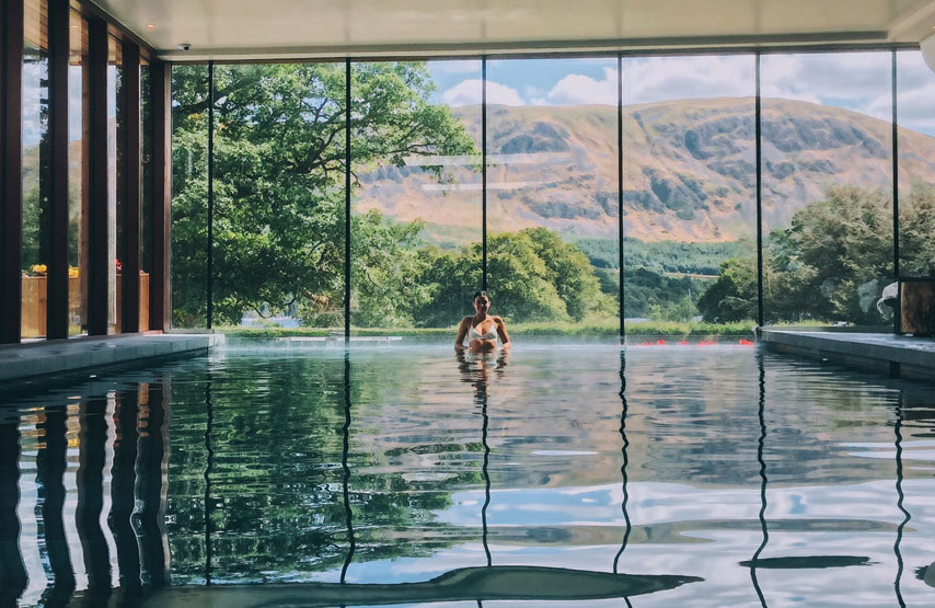 The swimming pool overlooking Ullswater