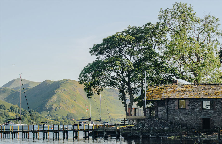 The boathouse on the shore of Ullswater