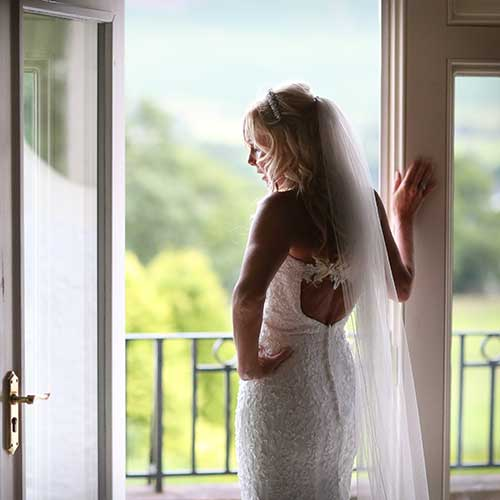 Bride on her wedding day at Another Place