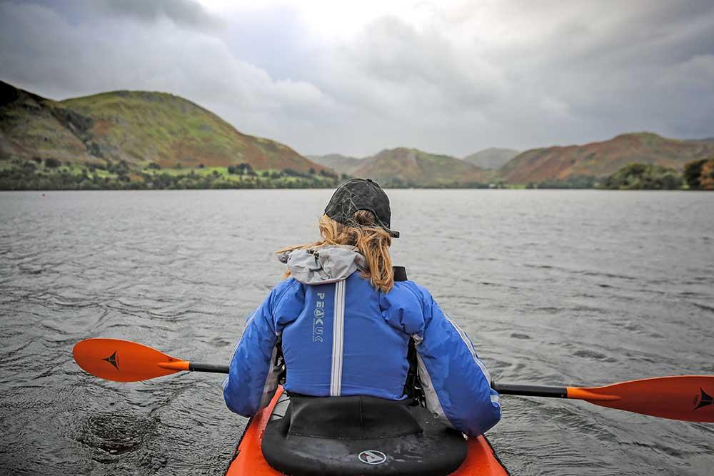 Exploring Ullswater by kayak