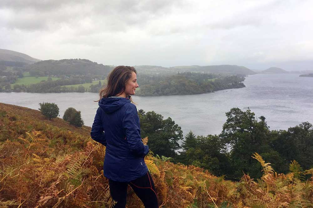 Fiona taking in the view over Ullswater