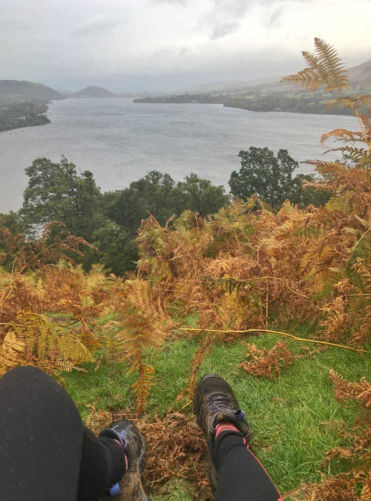 View of the lake from the Ullswater Way