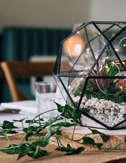 Wedding decorations in Rampsbeck Restaurant