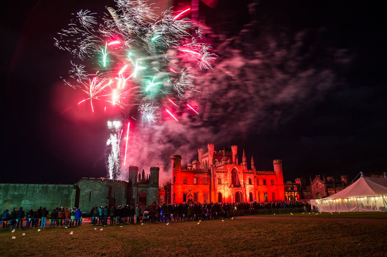 Lowther Castle Bonfire Night