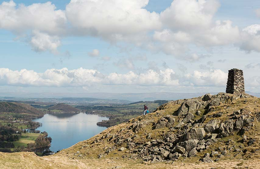 Walker on top of Hallin Fell