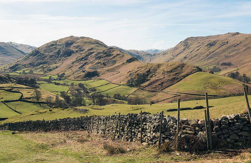 Looking towards Hallin Fell