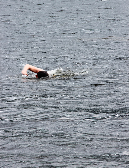 Swimmer in Ullswater