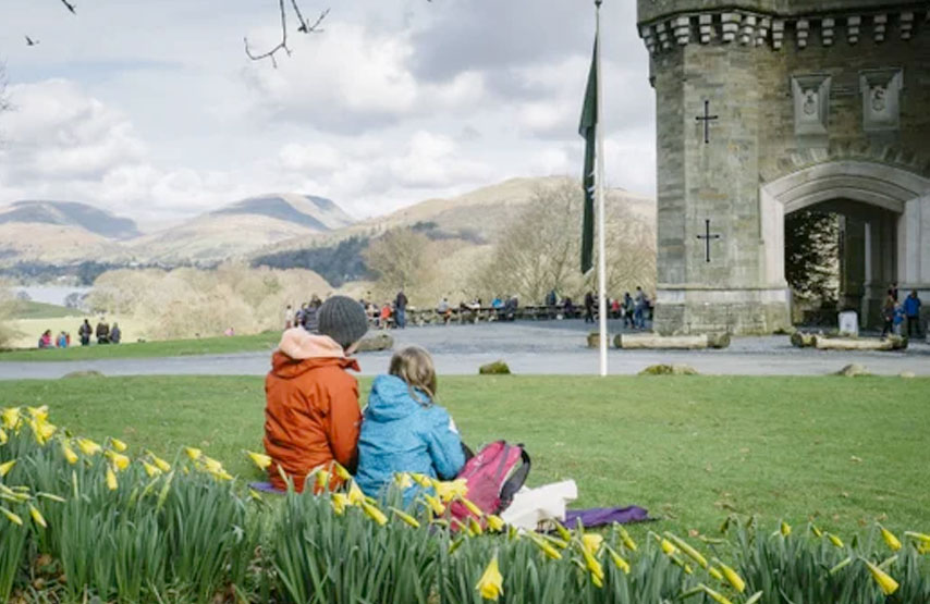 Easter egg hunt at Wray Castle