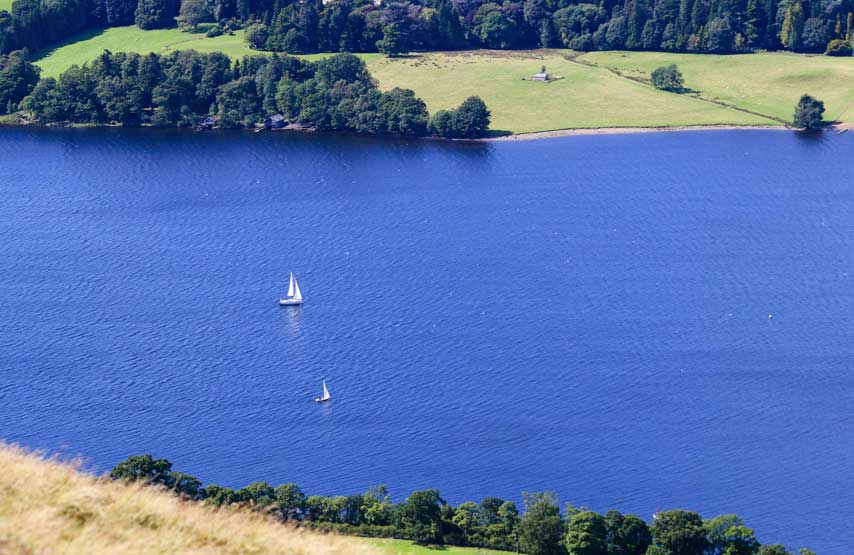 sailing on ullswater lake district