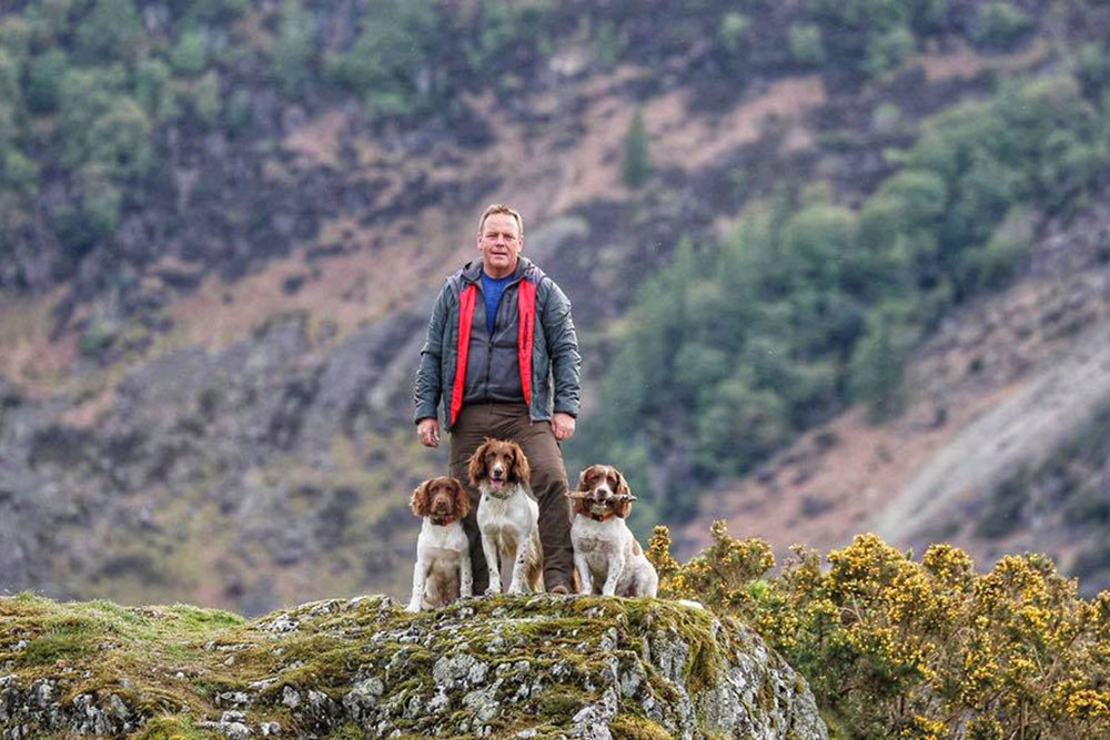 Kerry standing with Max, Paddy and Harry in the Lake District