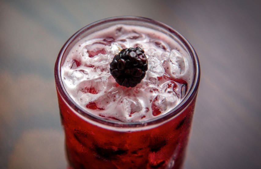 Mason's bramble gin cocktail