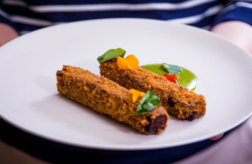 Oxtail fritters with nasturtium mayonnaise