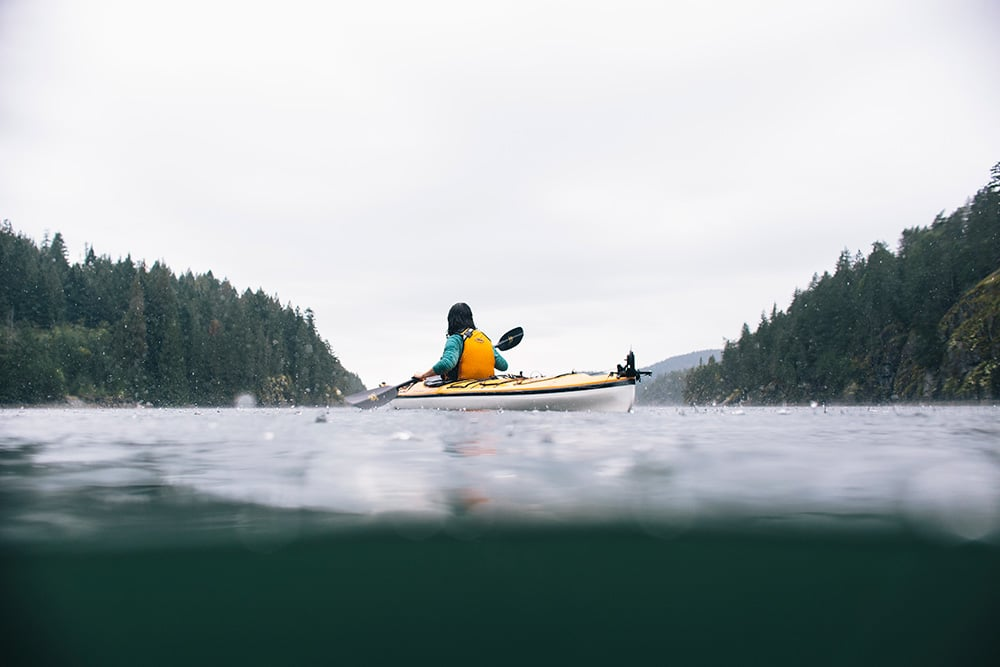 Jo Tinsley kayaking in British Columbia