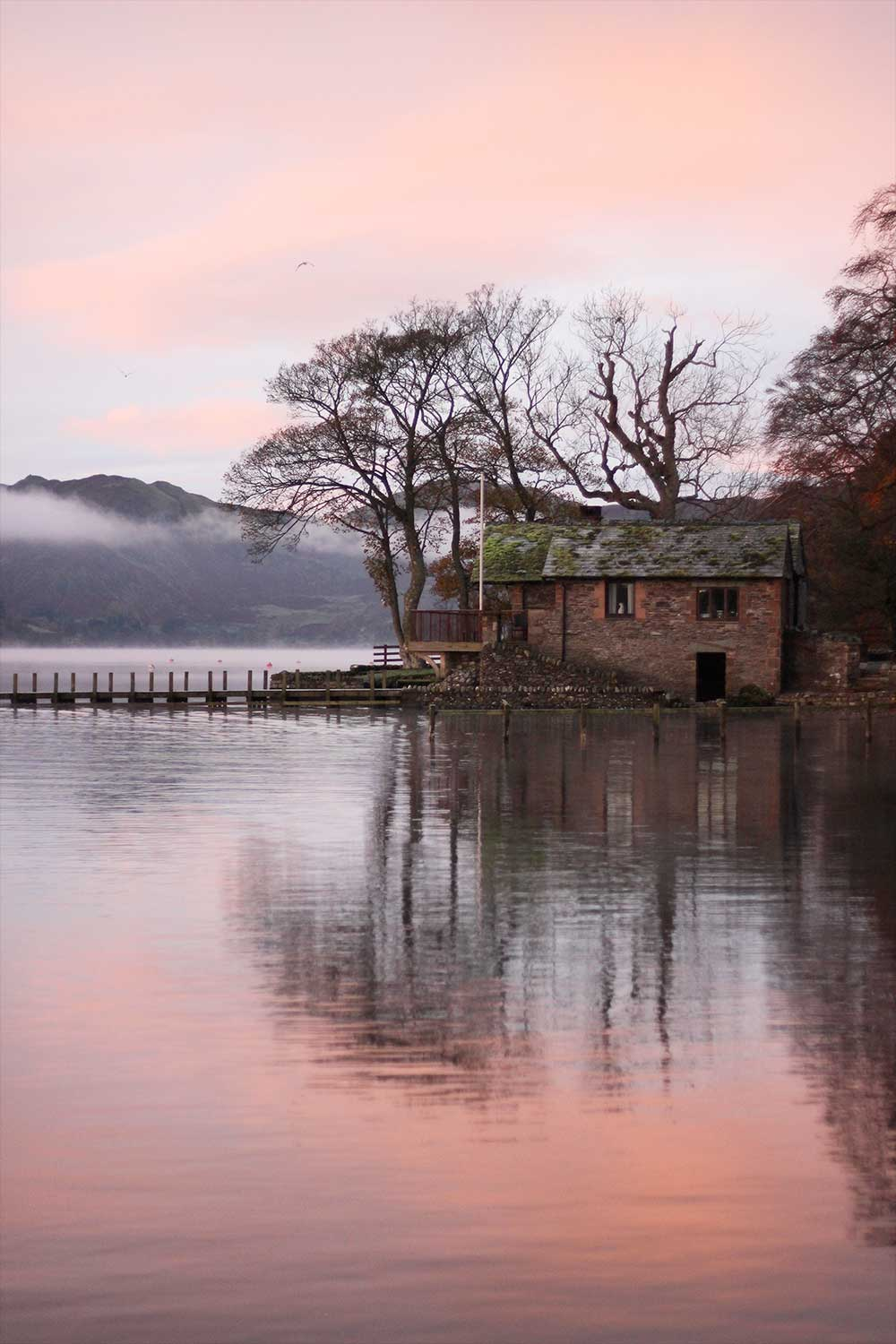 The boat house at sunrise