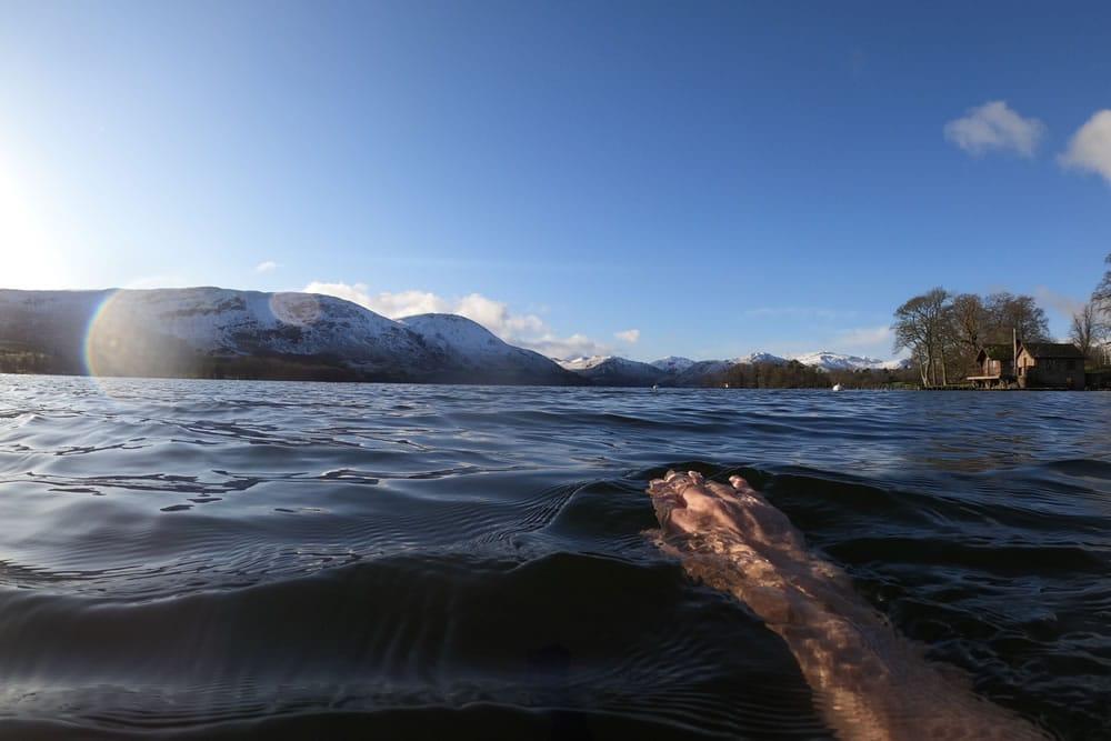 swimming in ullswater lake