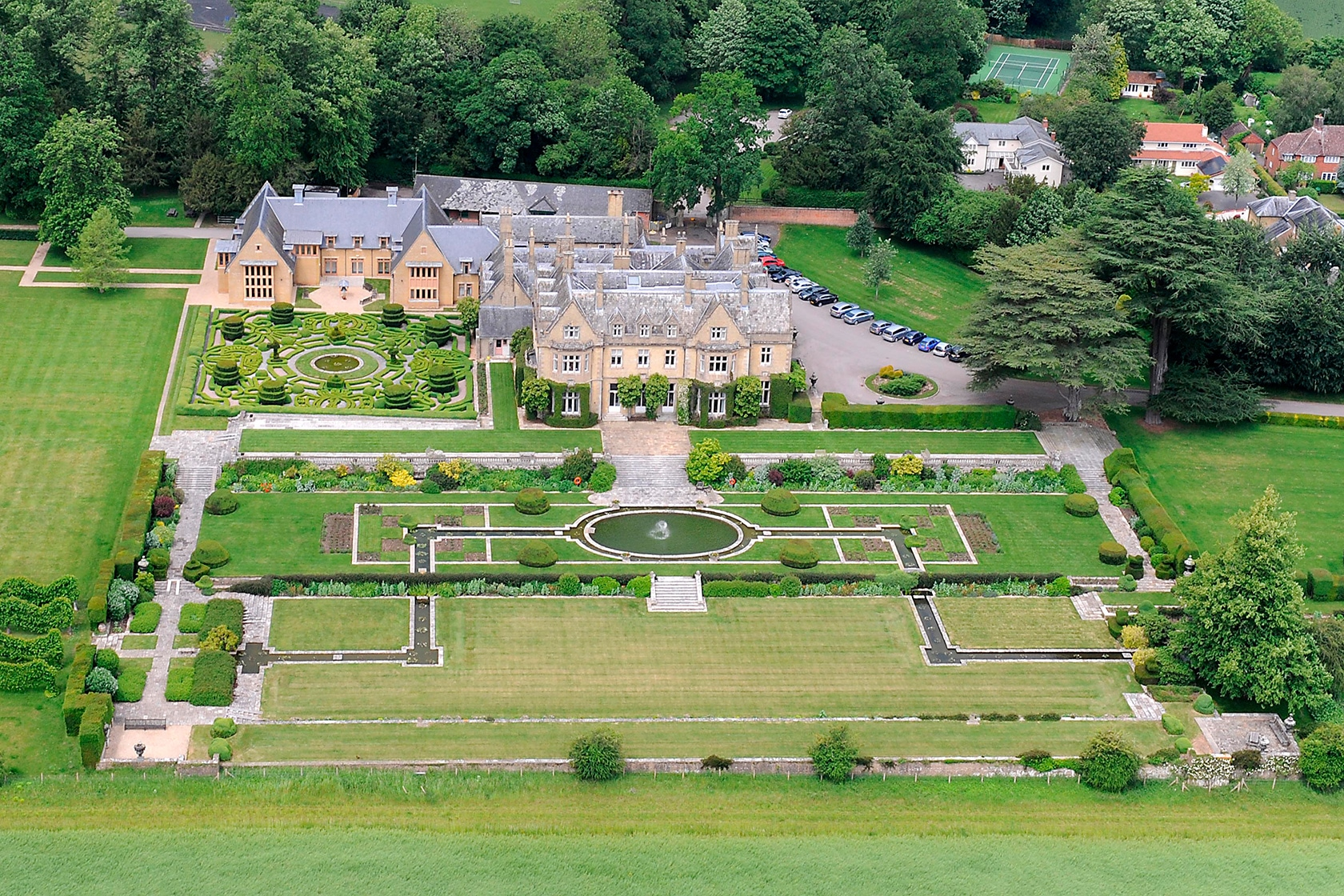 Amport House aerial view