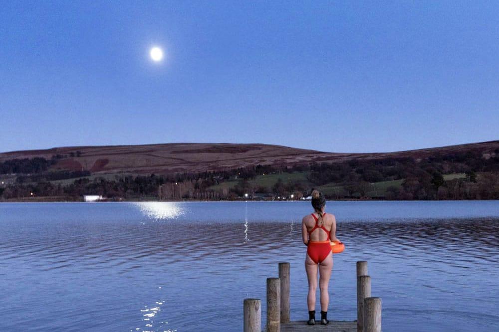 Moonlight swims on Ullswater