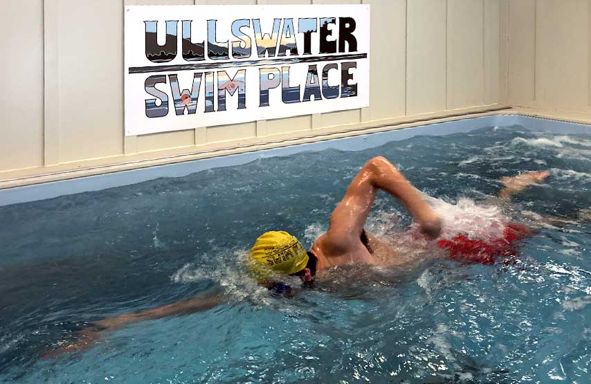 Perfect your swiming technice in Ullwater Swim Place's endless pool