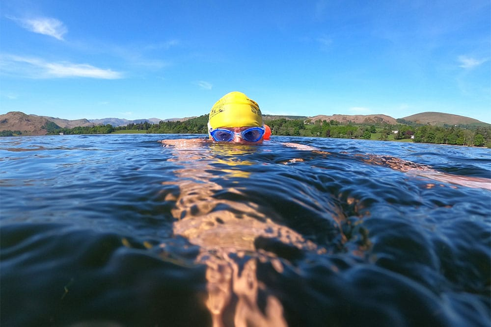 Colin Hill cold water swimming in Ullswater