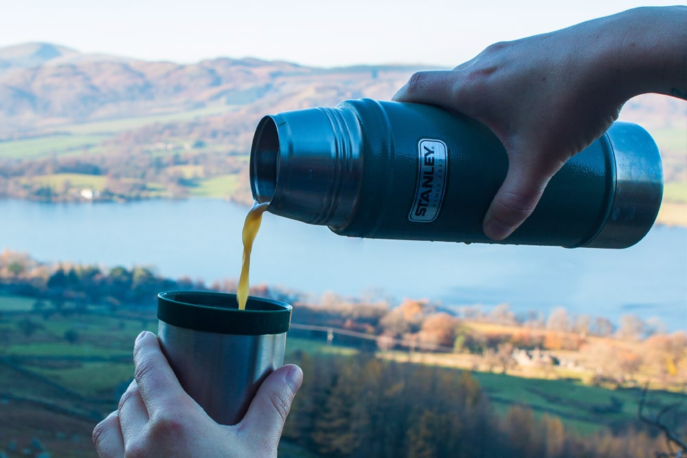 Take a Stanley flask of coffee from your room when exploring the Lakes