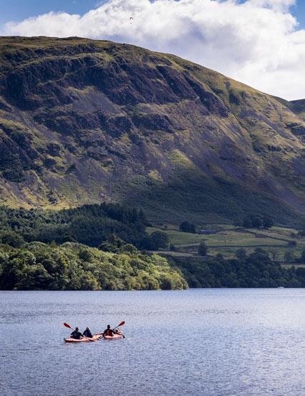 Kayaking on Ullswater