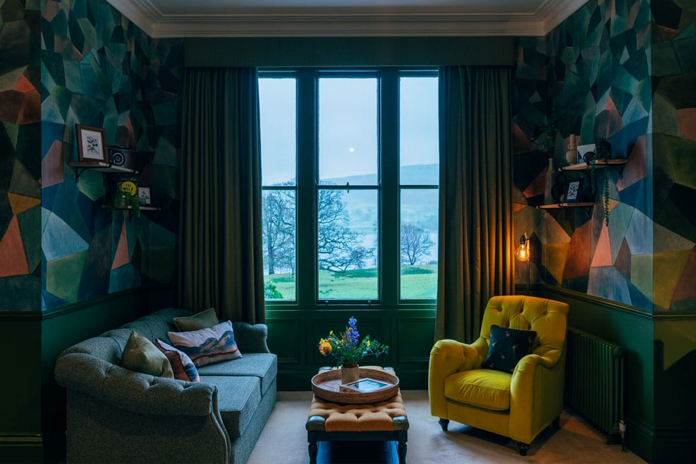 A room featured in BBC Two Interior Design Masters -Suite hotel bedroom at Another Place, The Lake in Ullswater the Lake District