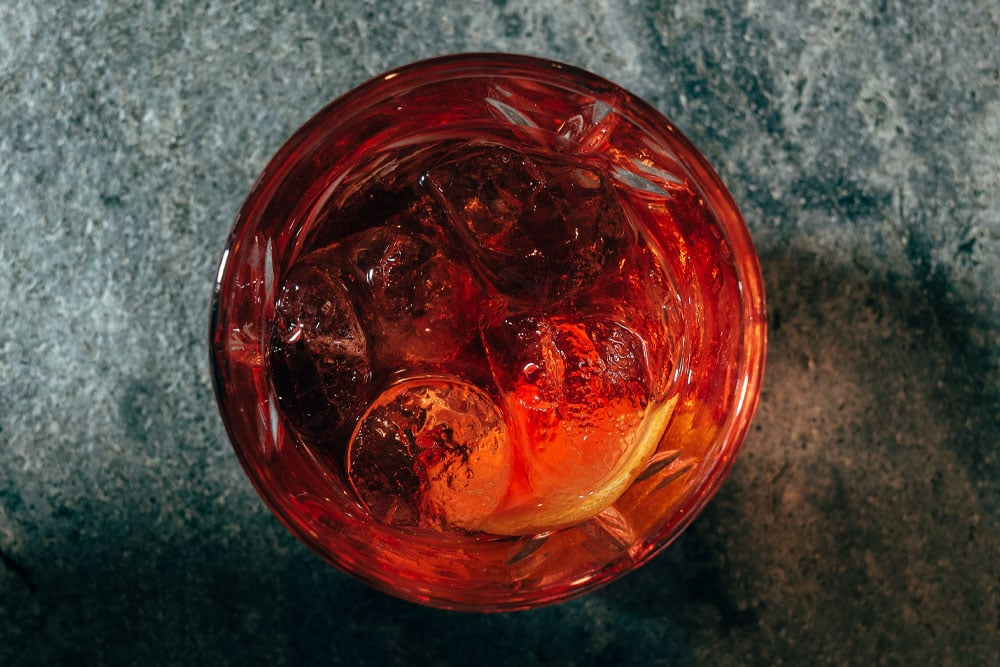 Lakes Negroni Christmas cocktail in The Living Space