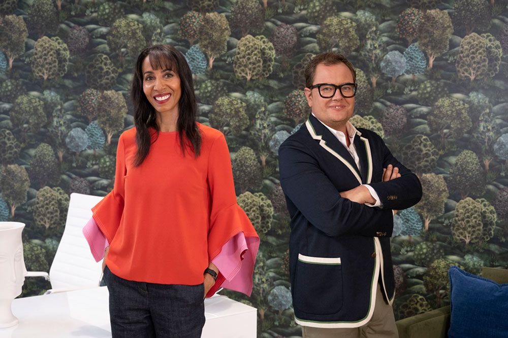 BBC Two Interior Design masters with Alan Carr and Michelle Ogudhedin