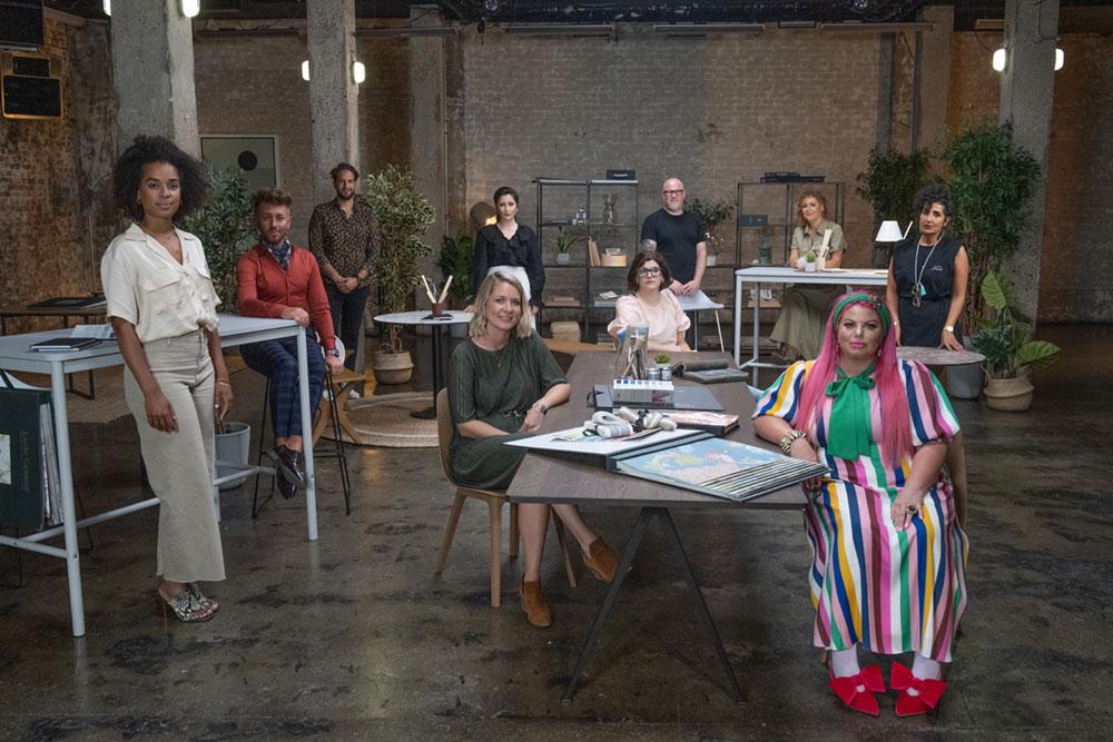 The 2021 contestants in the BBC Two Interior Design Masters