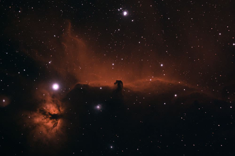 Horse head and flame nebulae by Ben Bush