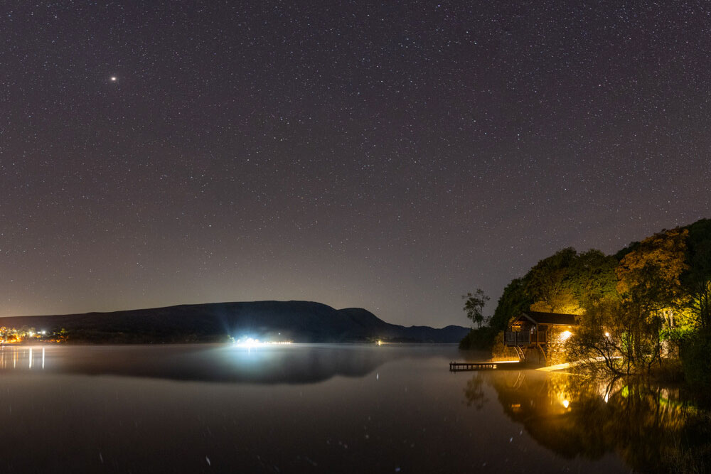 Ullswater boathouse at night by Ben Bush