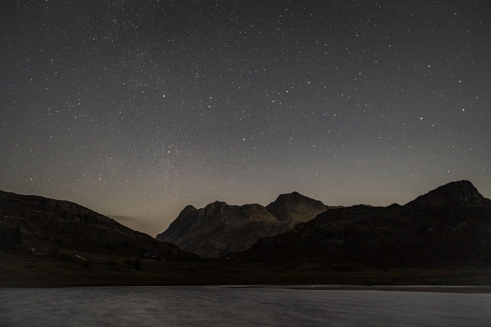 Moonlit fells in the Lake District