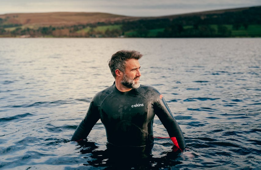 Wild swimming with a C-Skins swim research wetsuit