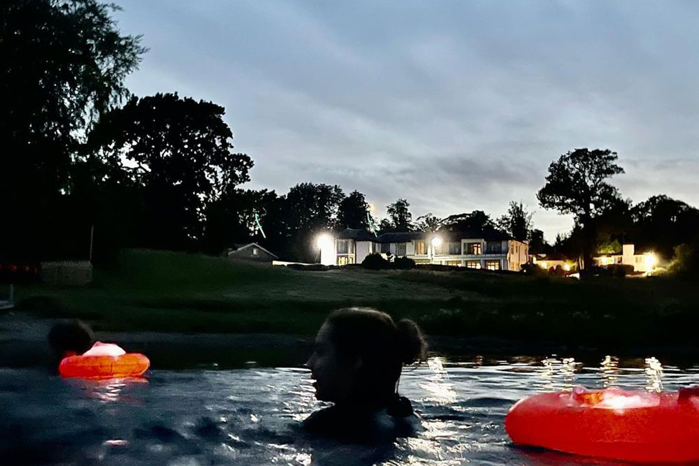 Night swimming with Colin Hill at Another Place, The Lake