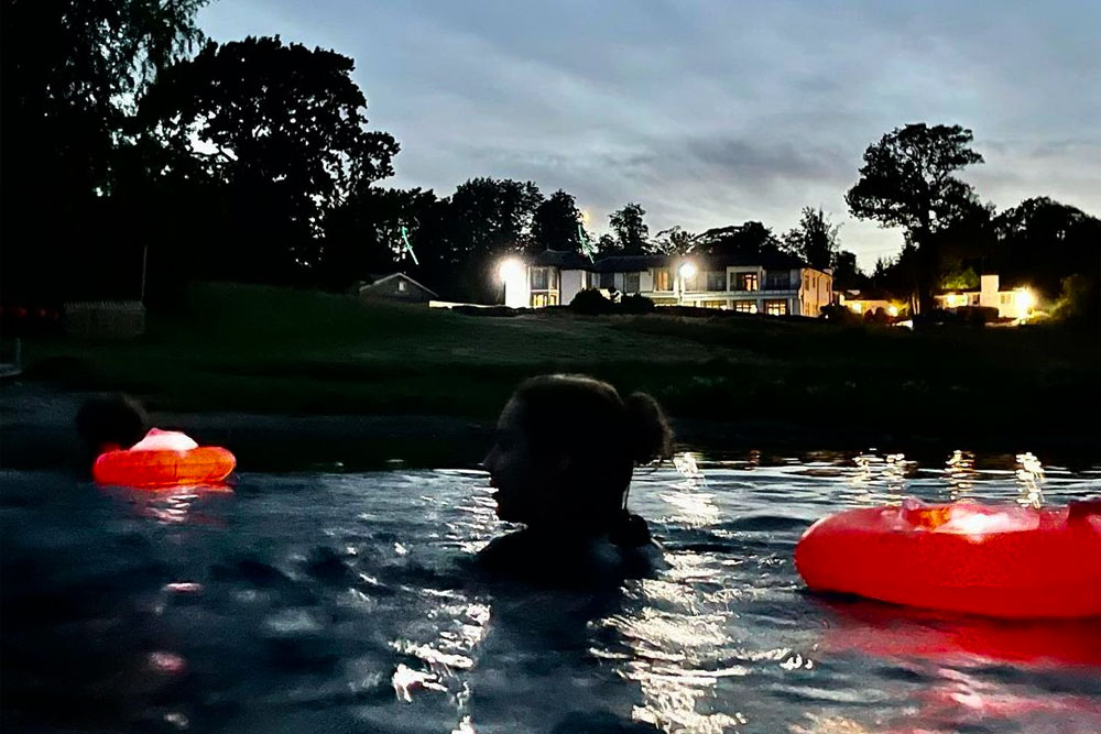 Night swimming in Ullswater at Another Place