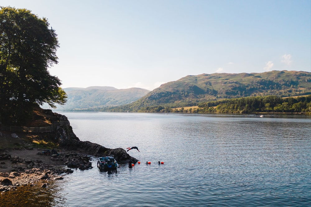 Wild swimming lessons at Another Place, The Lake